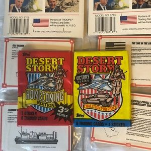 Desert Storm trading cards 1991 unopened MIB